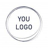 Label, Design Element, Frame. Elegant Logo Circles. Fashion Logo Design. Abstract Circle Line Shape  poster