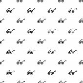 Blind Man Pattern Seamless Vector Repeat For Any Web Design poster