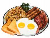 Постер, плакат: Традиционный завтрак