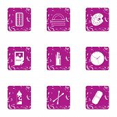 Paint Material Icons Set. Grunge Set Of 9 Paint Material Vector Icons For Web Isolated On White Back poster