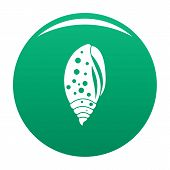 Sea Shell Icon. Simple Illustration Of Sea Shell Vector Icon For Any Design Green poster