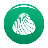 Hard Shell Icon. Simple Illustration Of Hard Shell Vector Icon For Any Design Green poster