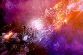 Artistic Abstract Dramatic Artwork On A Multicolored Dramatic Background poster