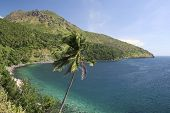 foto of camiguin  - tropical coastline of camiguin island mindanao the philippines - JPG
