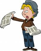 pic of newsboy  - Newsboy on a white background vector illustration - JPG