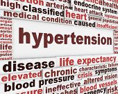 Hypertension medical poster design