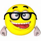 stock photo of feeling stupid  - 3 D Render of an Toon Smiley - JPG