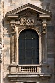 foto of castello brown  - a window in the front of the dome of milan - JPG