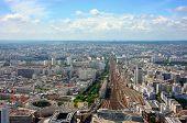 image of gare  - Aerial view of Montparnasse railway station Paris - JPG