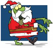 stock photo of lurch  - Santa Claus Zombie Walking With Hands In Front - JPG