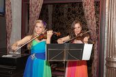Violin Duet Of Girls