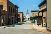 stock photo of shacks  - a fake old town used as a movie stage - JPG