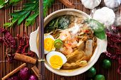 picture of malaysian food  - Prawn mee - JPG