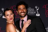 LOS ANGELES - JUN 14:  Melissa Claire Egan, Ignacio Serricchio attends the 2013 Daytime Creative Emm