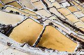 foto of salt mines  - Peru Salinas de Maras Pre Inca traditional salt mine  - JPG