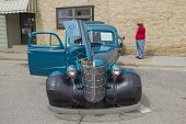 1938 Blue Chevy Coupe Front View
