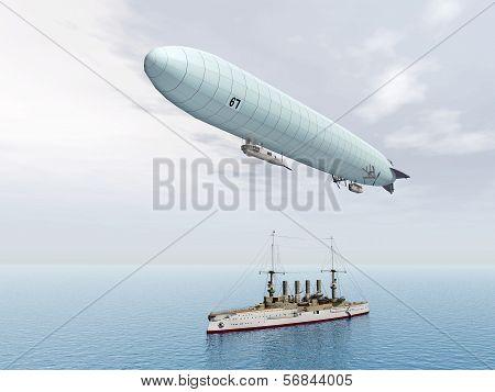 Airship and Warship