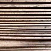 Wooden Fence With The Effect Of Dizziness