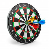 Dartboard with arrows