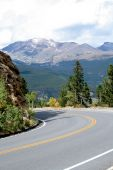 pic of colorado high country  - a high altitude mountain highway in Colorado - JPG