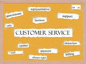 picture of rep  - Customer Service Corkboard Word Concept with great terms such as rep support calls and more - JPG