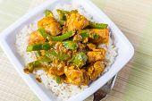 stock photo of pakistani  - Chicken Jalfrezi  - JPG