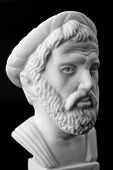 pic of pythagoras  - Pythagoras of Samos was an important Greek philosopher mathematician geometer and music theorist - JPG