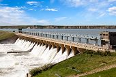 picture of hydroelectric power  - Powerful dam in the town of Bassano Alberta - JPG
