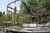 stock photo of reactor  - Children playgrounds in Pripyat  - JPG