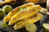 image of cilantro  - Delicious Grilled Mexican Corn with Chili Cilantro and Lime - JPG