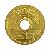 image of japanese coin  - close  - JPG