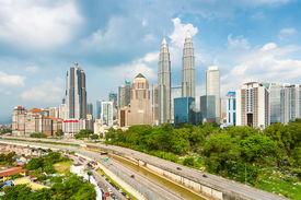 foto of petronas towers  - Kuala Lumpur skyline - JPG