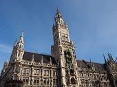 stock photo of bavaria  - Marienplatz in Munich - JPG