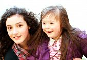 picture of playgroup  - Portrait of beautiful young girls smiling  - JPG