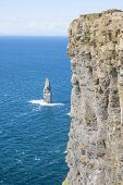 image of cliffs moher  - Cliff of Moher in County Clare Ireland  - JPG