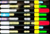 picture of time flies  - Blurred background of display schedule board in an airport with departure and arrival times - JPG