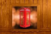 pic of phone-booth  - Classic British red phone booth in London UK - JPG