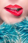 stock photo of lipstick  - Sexy Lips - JPG