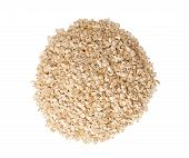 picture of oats  - Oat flakes isolated on white clipping path - JPG