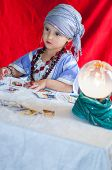 pic of fortune-teller  - particular of little fortune teller - JPG