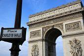 picture of charles de gaulle  - Arc de Triomphe at Place Charles de Gaulle in Paris - JPG