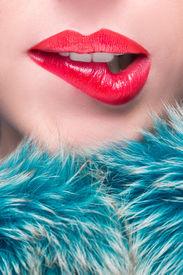 stock photo of lip  - Sexy Lips - JPG