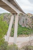 stock photo of south-western  - New road bridge over the Gouritz River between Riversdale and Mosselbay in the Western Cape Province of South Africa - JPG