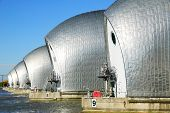 stock photo of safety barrier  - Thames Barrier - JPG