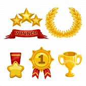 picture of trophy  - Award and trophy icons set - JPG