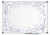 picture of mathematics  - illustration of blank whiteboard with mathematics formula - JPG
