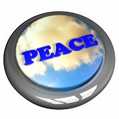 picture of rest-in-peace  - Peace word with cloudy sky button isolated over white 3d render - JPG