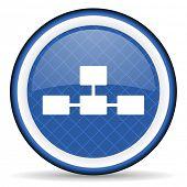 stock photo of cisco  - database blue icon   - JPG