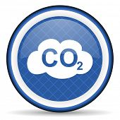 pic of carbon-dioxide  - carbon dioxide blue icon co2 sign  - JPG