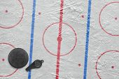 image of hockey arena  - Referee whistle washer and layout hockey rink - JPG
